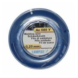 Zvárací drôt, Au 14k žlté, 50 cm, pr.0,25 mm, Au585y