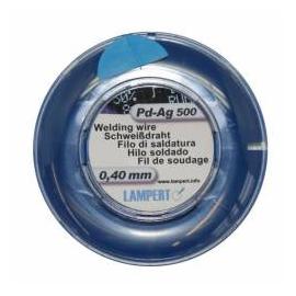 Zvárací drôt, Pd, 50 cm, pr.0,40 mm, PdAg500